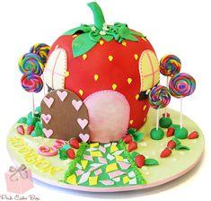 Addison's 3rd Birthday Strawberry Cake | http://blog.pinkcakebox.com/addisons-3rd-birthday-strawberry-cake-2013-12-17.htm