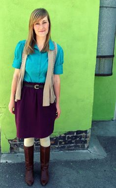 cute teacher outfit.Anais! Here is your first day of school look! You can rock it boo boo!!!