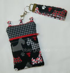 Black and Red Scottish Terrier Dog iPhone 6 Plus by elsiegeneva