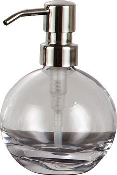 #Bleikristall #Seifenspender Apollo von nicol Liquid Soap, Kugel, Apollo, Soap Dispenser, Bottle, Hands, Crystals, Decorating Ideas, Full Bath