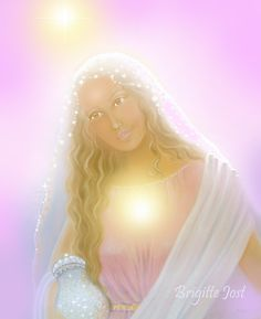 Brigitte Jost Maria-Magdalena in the light Jesus Mother, Mother Mary, Sacred Feminine, Divine Feminine, Calling All Angels, Mary Magdalene And Jesus, Reiki, Maya, Divine Goddess
