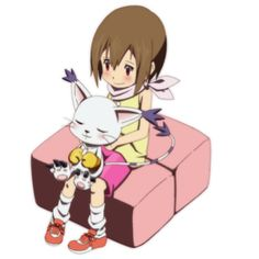 Kari and Gatomon are my childhood. Anime Guys, Manga Anime, Anime Art, Gatomon, Right In The Childhood, Digimon Frontier, Digimon Digital Monsters, Digimon Adventure Tri, My Teddy Bear