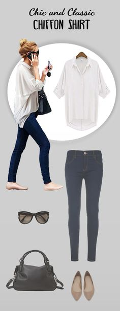 Stay warm but look cool as the weather gets colder with the Chill with Me Chiffon Shirt. The shirt's relaxed silhouette makes it perfect for lounging around, working in the office, or chilling out with friends. Pair with skinny jeans and cute flats for a versatile day-to-night look. Available in 3 colors: white, black, and olive green.
