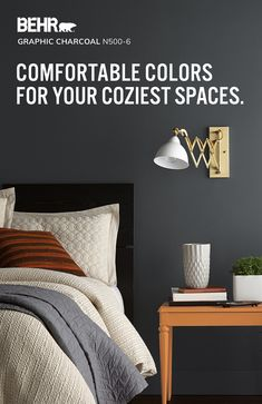 Is your bedroom the coziest room in your house? If not, finding the perfect new color is the solution! Explore popular BEHR® Paint colors to bring cozy, snuggle-worthy comfort to your space. Today Let's Paint™.