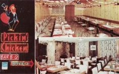 Pickin Chicken Interior Neon Marquee CANADA postcard | eBay