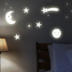 Wandkings Wall Stickers Sun, Moon and Stars: 161 Stickers Glow-in-the-Dark in Home & Garden, Home Décor, Decals, Stickers & Vinyl Art | eBay