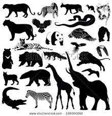 forest animal silhouettes - Google Search