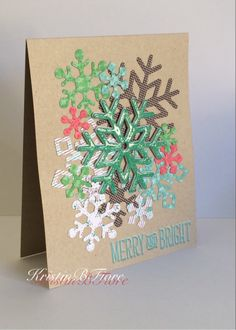 Lawn Fawn Fall/Winter 2014 : Stitched Snowflakes Lawn Cuts and Snow Day 6x6 Petite Paper Pack