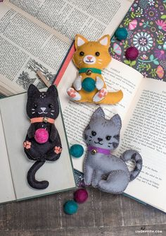 DIY and Crafts: DIY Felt Craft Kittens - Lia Griffith