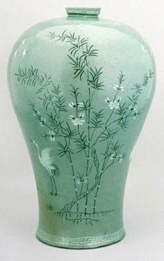 청자-보물1 : 네이버 블로그 Korean Art, South Korea, Porcelain, Flowers, Decor, Porcelain Ceramics, Decoration, Korea, Decorating