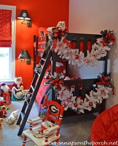 University of Georgia Themed Bed Room