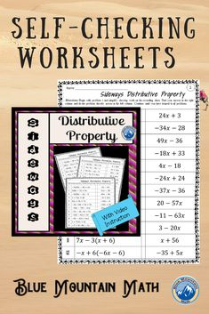 Looking for a way for students to practice using the distributive property that is self-checking? Each worksheet has 12 problems. Students will solve the first problem, look for their answer to solve the next problem. They continue until they have looped through all the problems back to problem 1. If they have a wrong answer along the way, they will know it.Now with video instruction for use as a sub plan, distance learning or absent students.Video demonstrates the first three problems.