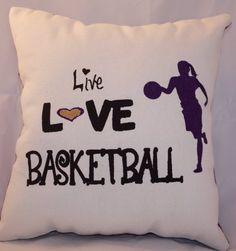 Basketball Accent Pillow Team Color Zebra Print Highschool Girl Christmas Gift | eBay