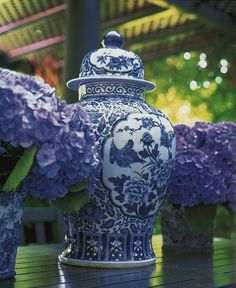 The Pink Pagoda: Blue and White + Purple