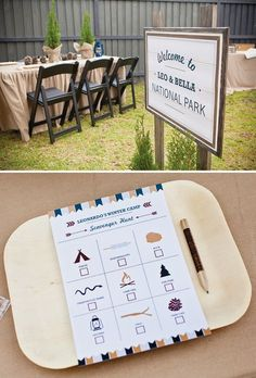camping party scavenger hunt activity