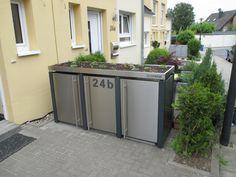 Recycling Storage, Storage Bins, Lava, Outdoor Furniture, Outdoor Decor, Bungalow, My House, Furniture Design, Garage Doors