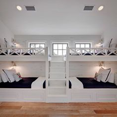 Boys Bunk Room - Design photos, ideas and inspiration. Amazing gallery of interior design and decorating ideas of Boys Bunk Room in bedrooms, boy's rooms by elite interior designers. Bunk Bed Rooms, Bunk Beds Built In, Bunk Beds With Stairs, Twin Beds, Queen Bunk Beds, Double Bunk Beds, Wooden Bunk Beds, Best Bunk Beds, Building Bunk Beds
