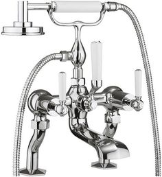 This Crosswater Waldorf Chrome Lever Bath Shower Mixer With Kit features an elegant design, with chrome lever handles that would suit any traditional bathroom. Bath Shower Mixer Taps, Bath Taps, Traditional Baths, Traditional Bathroom, Tub Faucet, Faucets, Shower Kits, Bathroom Collections, Chrome Finish