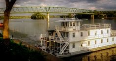 "Sternwheeler ""Betty Lou"" docked at Marietta."