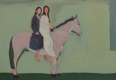 "Saatchi Online Artist: Janusz Gałuszka; Acrylic, Painting ""horse with two models"""