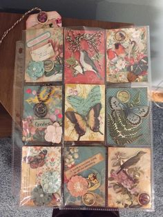 Pocket letter inspiration. Not made by me. VINTAGE, BIRDS, BUTTERFLIES