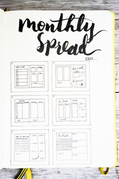 Bullet Journal Monthly Spread Ideas
