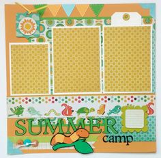 Summer camp scrapbook Camp scrapbook Scrapbook by ohioscrapper