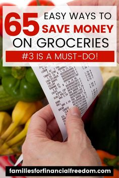 Find hacks and tips to save money on groceries! Save money on your budget with these ways to save money on groceries tips! See 60  frugal living groceries money saving ideas for families! Save money on groceries with free printables! Save money on groceries with free shopping lists printables! #groceries #savemoneyongroceries #grocerybudget #groceryshopping #foodbudget #food #personalfinance #savemoney #savemoneytips #save #moneysavingtips #moneysaving #moneytips #cheapmeals #budget #frugal Make Money Fast, Ways To Save Money, Money Tips, Money Saving Meals, Save Money On Groceries, Groceries Budget, Cheap Grocery List, Frugal Meals, Easy Meals