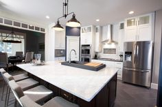 Looking for Kitchen and Open Plan Kitchen ideas? Browse Kitchen and Open Plan Kitchen images for decor, layout, furniture, and storage inspiration from HGTV. Gorgeous Kitchens, Beautiful Kitchens, House Design, House, Kitchen Remodel, Modern Kitchen, Property Brothers Kitchen, Open Plan Kitchen, Home Kitchens