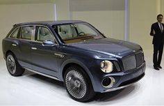 At long last, Bentley unveils the SUV it has been promising. It looks like its flagship Mulsanne from the front with Bentley touches. Bentley Suv, Bentley Motors, Sexy Cars, Hot Cars, My Dream Car, Dream Cars, Maserati, Bugatti, E90 Bmw