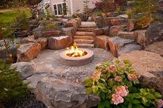 Spokane & Coeur d'Alene Backyard Fire Pit Design & Construction