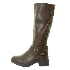 Womans Ladies Black Brown Vintage Wide Buckle Zip Knee Biker Riding Heel High Calf tread Boots Sizes 3 4 5 6 7 8 Tilly London http://www.amazon.co.uk/dp/B012NEH20Q/ref=cm_sw_r_pi_dp_.kvbwb1MA3HF5