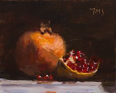 7cm x 14cm, oil on board Painting status: SOLD Daily painting for Tuesday 20 January, 2015 daily painting titled Pomegranate - click for enlargement