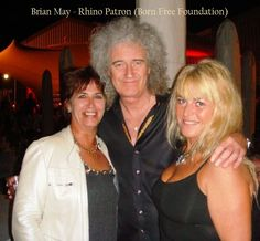 Brian May, Orna and Gill for The Born Free Foundation. Awareness Campaign, Brian May, Fundraisers, Foundation, Music, Free, Musica, Musik, Music Games