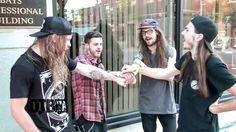 The metal band, Phinehas, demonstrates their preshow ritual!