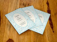 A6 SAVE THE DATE CARD & ENVELOPE
