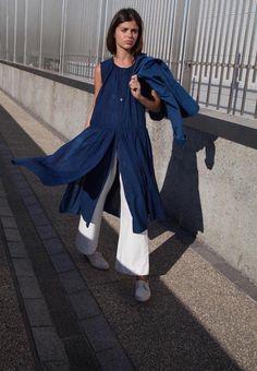 Caron Callahan, Hand dyed indigo Mitchell dress