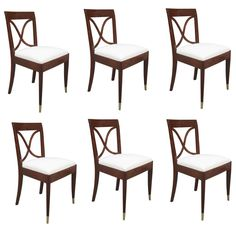 Set Of Six Art Deco Chairs