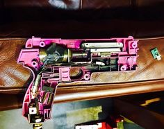 The delicate anatomy of a Time Crisis gun as it receives it's treatment in readiness for Saturday Night. #rangloo, #bar, #accessories