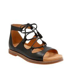 b1fd3e1a1f15 Corsio Dallas Black Leather womens-flat-sandals Ankle Strap Sandals