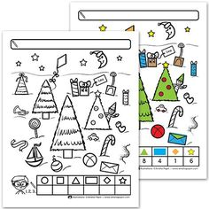 Counting Christmas shapes - Christmas activities for kids ☺ - [post_tags Kindergarten Lesson Plans, Kindergarten Crafts, Preschool Math, Christmas Worksheets, Christmas Activities For Kids, Kids Christmas, Christmas Treats For Gifts, Holiday Crafts, Holiday Classrooms