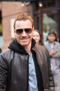 Michael Fassbender in New York for The Tonight Show