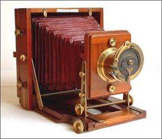 Old antique camera: The Instantograph Camera c1889 J. Lancaster & Son, Birmingham, England