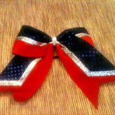 Cheer hair bow.  angles