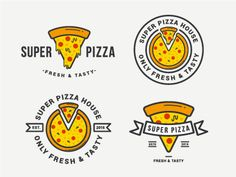Some tasty logos for a stock web Best Picture For Pizza photography For Your Taste You are looking for something, and it is going to tell you exactly what you are looking for, and you didn't find that Pizza Branding, Pizza Logo, Food Branding, Logo Food, Pizza Pizza, Pizza Restaurant, Logo Restaurant, Tasty Logo, Business Leaflets