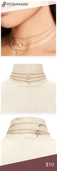 1Day Sale! Necklace Color: Gold Condition: New Quantity:3pcs Material: Alloy *Price Firm Jewelry Necklaces