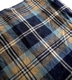 via the arm Tartan Fabric, Tartan Plaid, Woven Fabric, Plaid Fashion, Men's Fashion, Denim Crafts, Company Picnic, Animal Projects, Blue Check