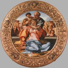 michelangelo buonarroti, HOLY FAMILY, saw it in Feb 2002 and Feb 2005 at the uffizi, firenze, italia