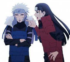 Second Hokage, Tobirama, First Hokage, Hashirama, funny, brothers; Naruto
