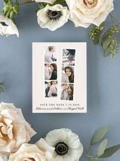 Classic Photobooth Frame Photo Wedding Save the Date Cards Modern Save The Dates, Rustic Save The Dates, Wedding Save The Dates, Luxury Wedding Invitations, Elegant Invitations, Wedding Stationary, Save The Date Magnets, Save The Date Cards, Engagement Ideas